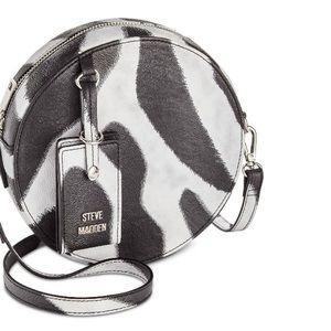 NWT Steve Madden Zebra Canteen Purse